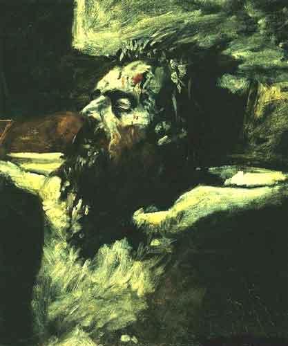 1893, Rostro de Jesús de Nikolaj Alexandrowitsch Jaroschenko (preparación para La Crucifixión)