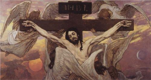 1885-96, Cristo Crucificado de Viktor Vasnetsov