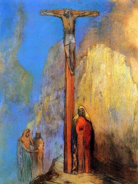1897, Calvario de Odilon Redon