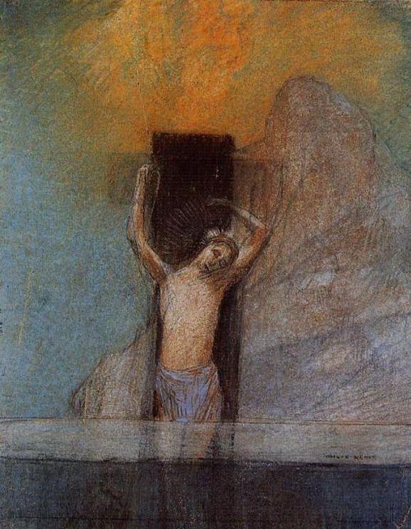 1895-1900, Cristo en la Cruz de Odilon Redon