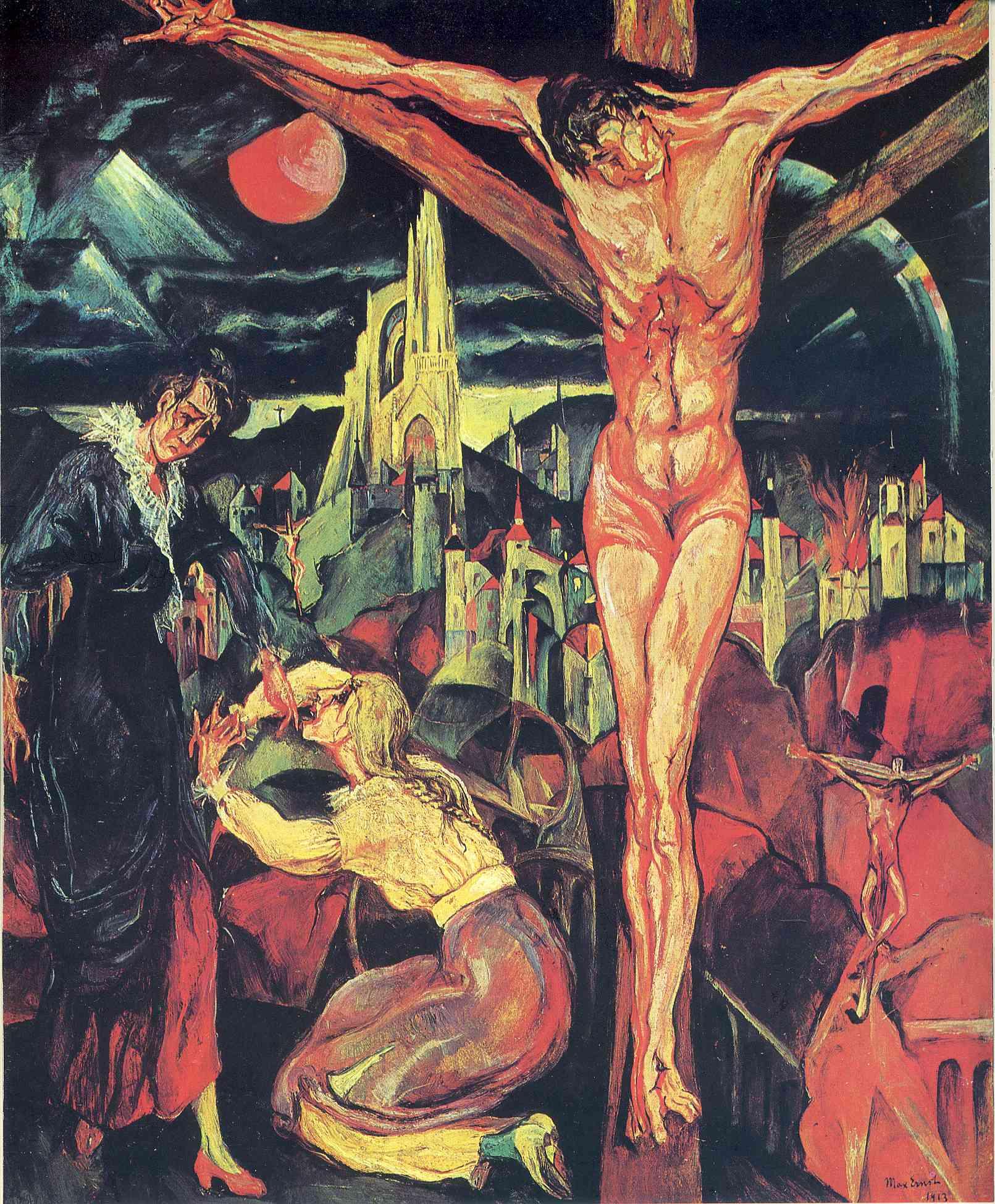 1913, Crucifixión de Max Ernst