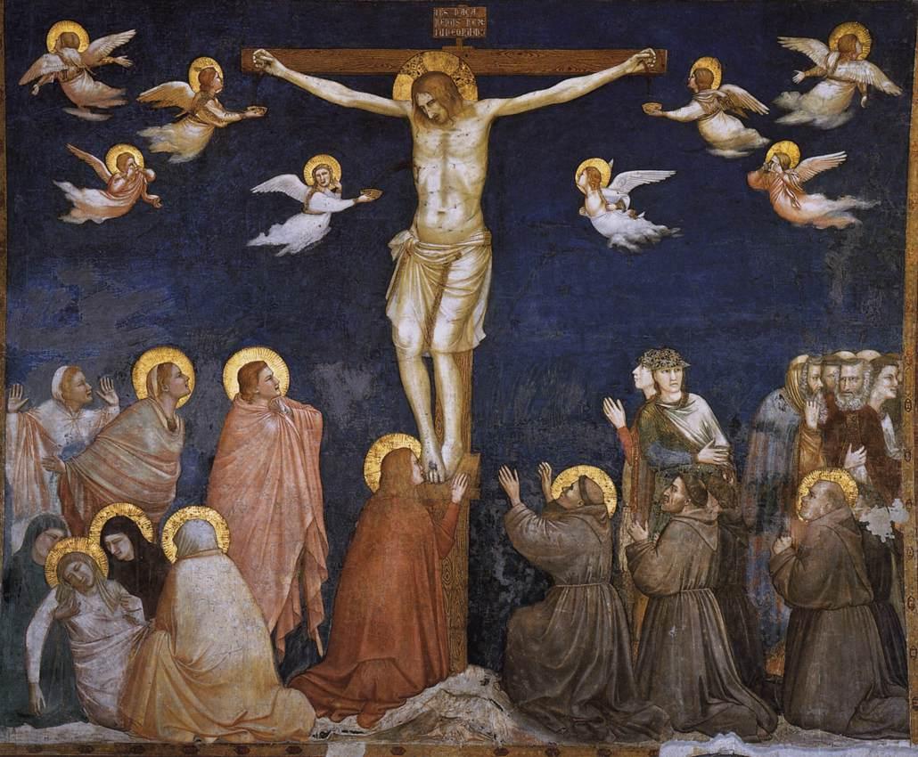 1320, Escena de la Crucifixion en la Basílica Inferior por Asís Lorenzettí