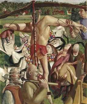 1934, La Crucifixión de Stanley Spencer