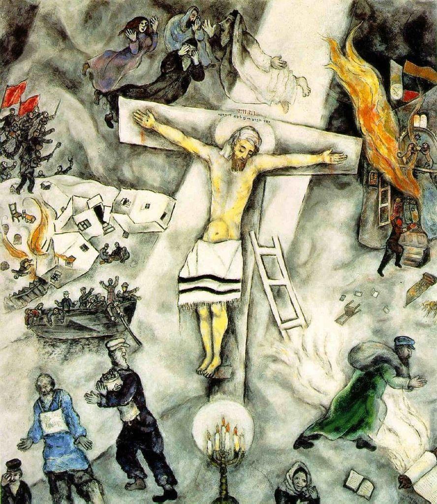 1938, Crucifixión blanca de Marc Chagall en el Instituto de Arte de Chicago, EE. UU.