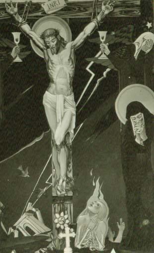 1938, Mural de la Crucifixión en la Iglesia de San Nicolás (Croacia)