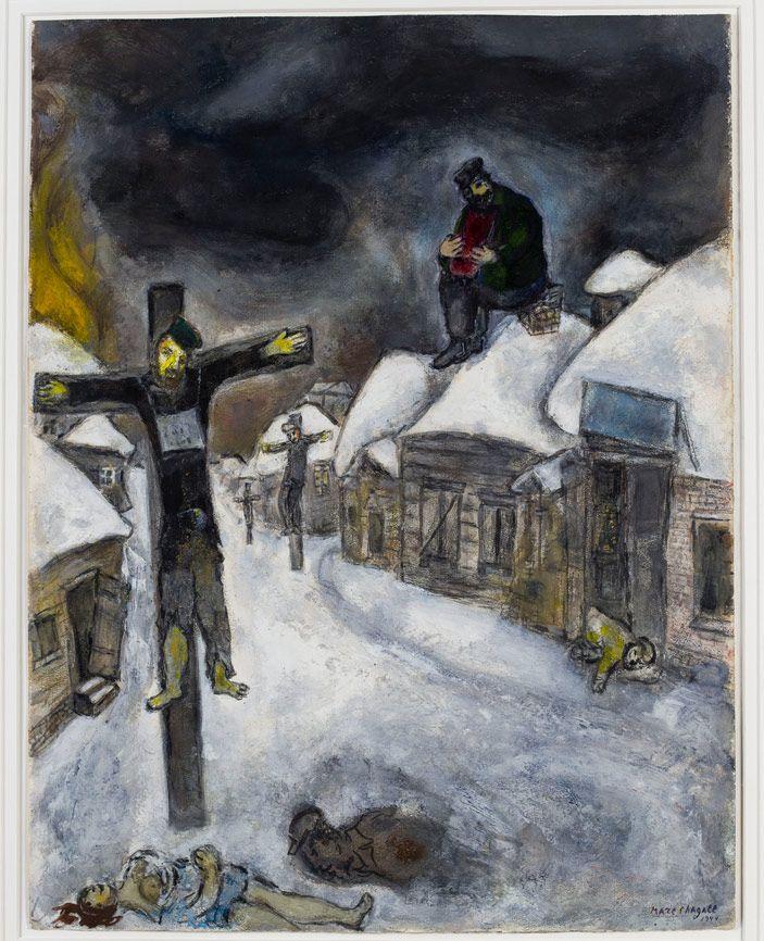 1944, El crucificado de Marc Chagall en el Museo de Israel (Jerusalén)