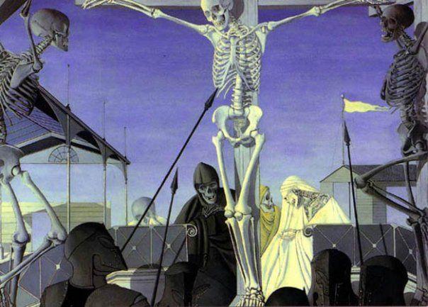 1952, Crucifixión de Paul Delvaux