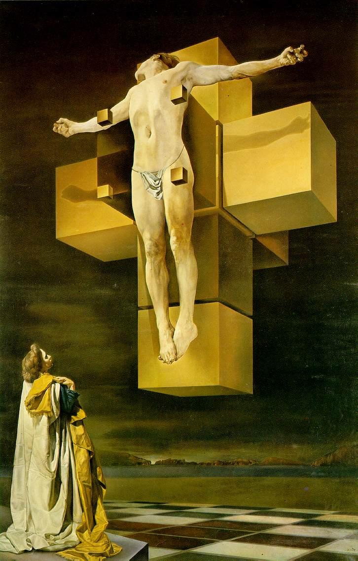 1954, La Crucifixión (Corpus hypercubus) de Salvador Dalí en el Museo Metropolitano de Arte de Nueva York