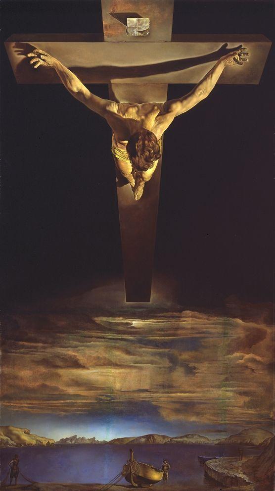 1951, Cristo de San Juan de la Cruz de Salvador Dalí en el Museo Kelvingrove (Glasgow)