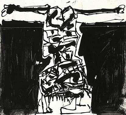 1957, Crucifixión de Antonio Saura
