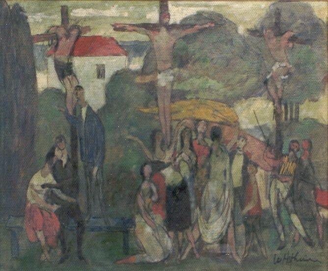 1958, Crucifixión en el parque de Willem Hofhuizen