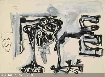 1961, Crucifixión nº 3 de Antonio Saura