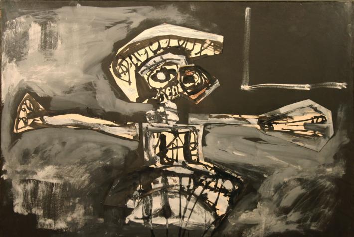 1961, Crucifixión de Antonio Saura