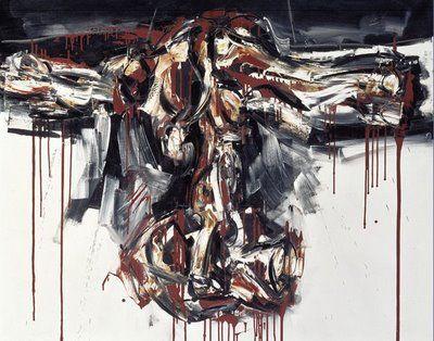 1963, Crucifixión roja de Antonio Saura
