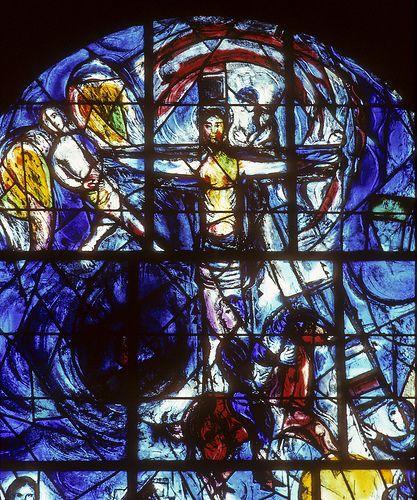 1967, Vitral de Marc Chagall en All Saints Church en Tudeley de Kent (Inglaterra)