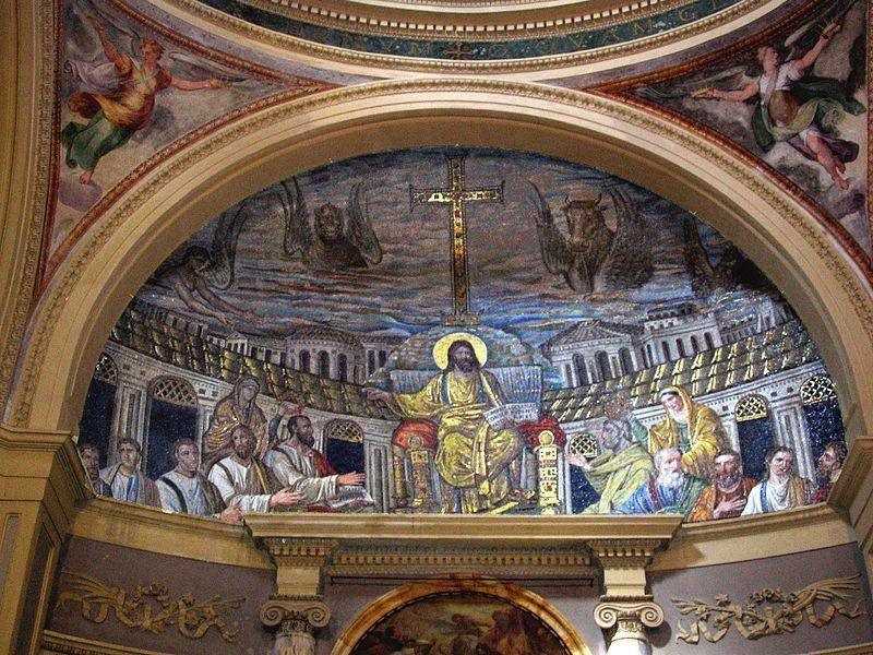 390, Mosaico en Santa Pudenziana de Roma