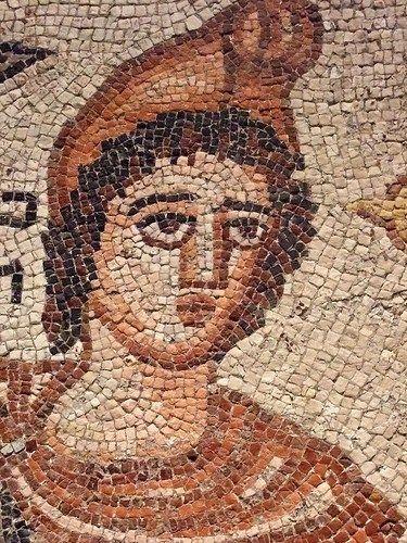 "Mosaico ""Orpheo domesticando animales salvajes"", Roma, 194 a.C."