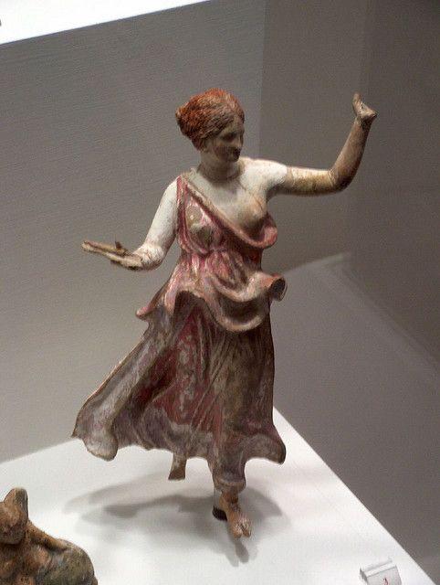 Tanagras, figuras griegas de terracota, IV a.C.-III a.C.
