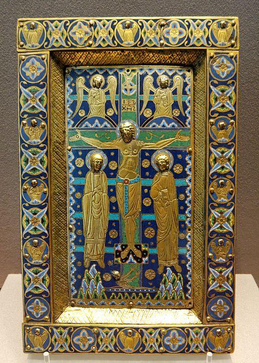 1200, Crucifixión (Limoges, Anónimo)