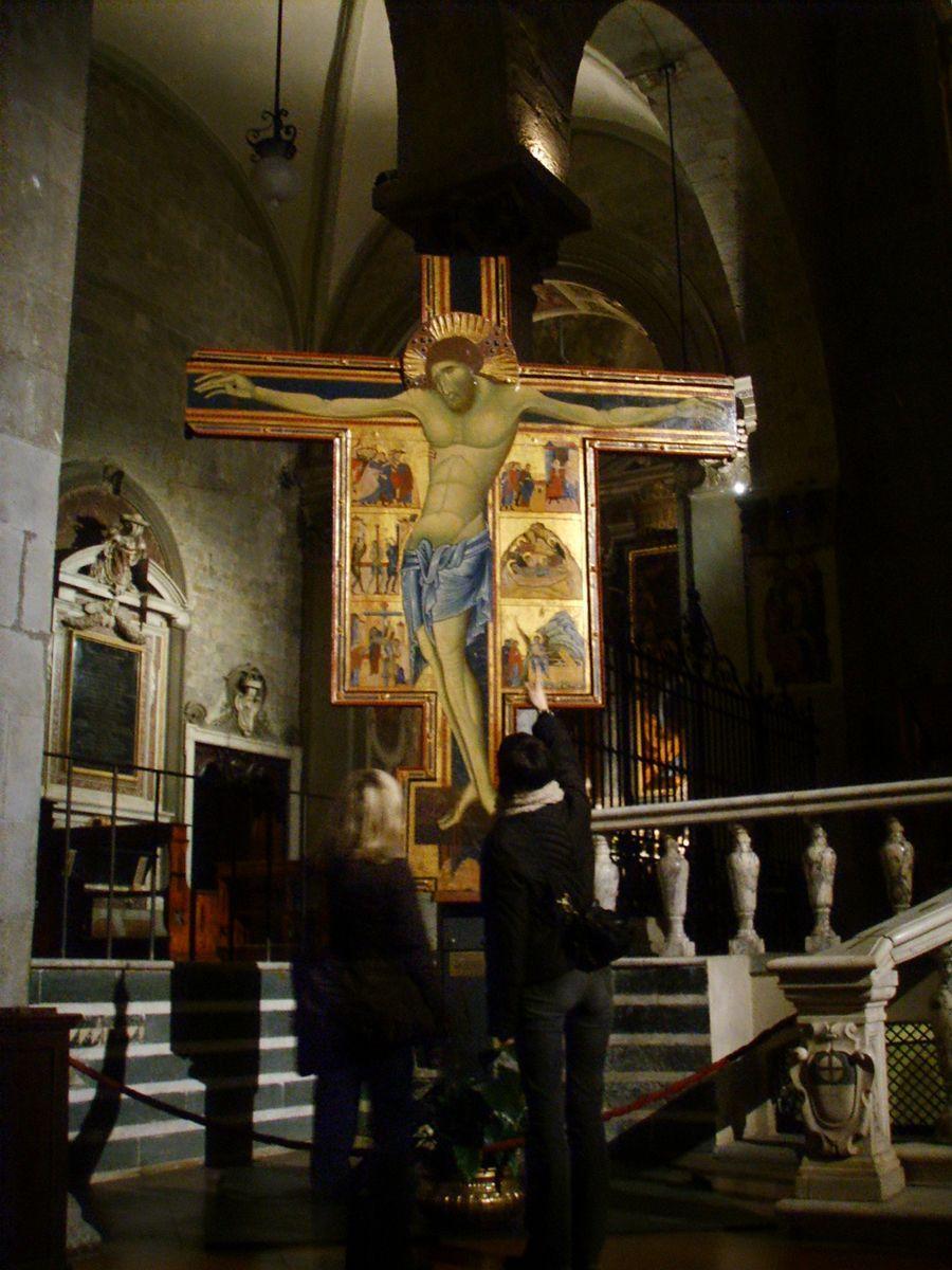 1274, Crucifixión con escenas de la Pasión de Coppo di Marcovaldo