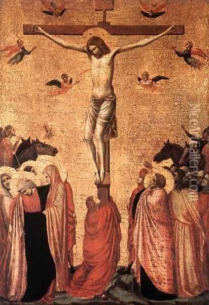 1319-20, Crucifixión de Giotto di Bondone en la Pinacoteca de Munich