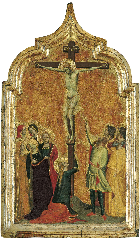 1330-35, Crucifixión de Bernardo Daddi en el Museo Thyssen- Bornemisza de Madrid