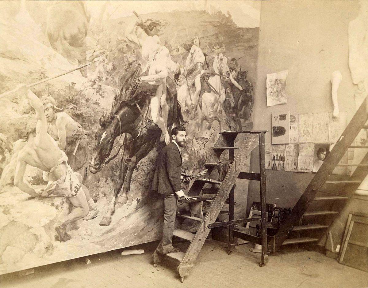 Arturo Michelena, Valencia, 1863-1898