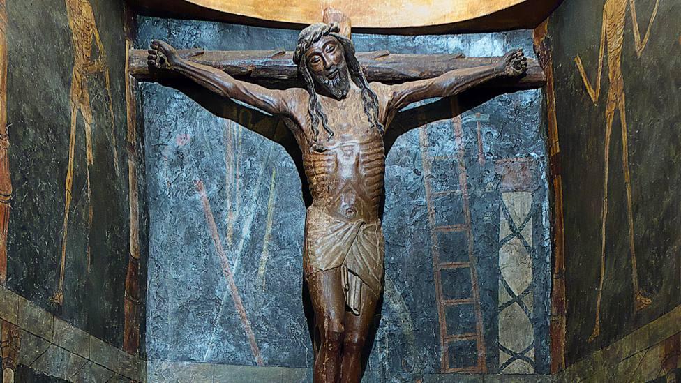 1250, El Cristo sonriente en el castillo de Javier en Navarra