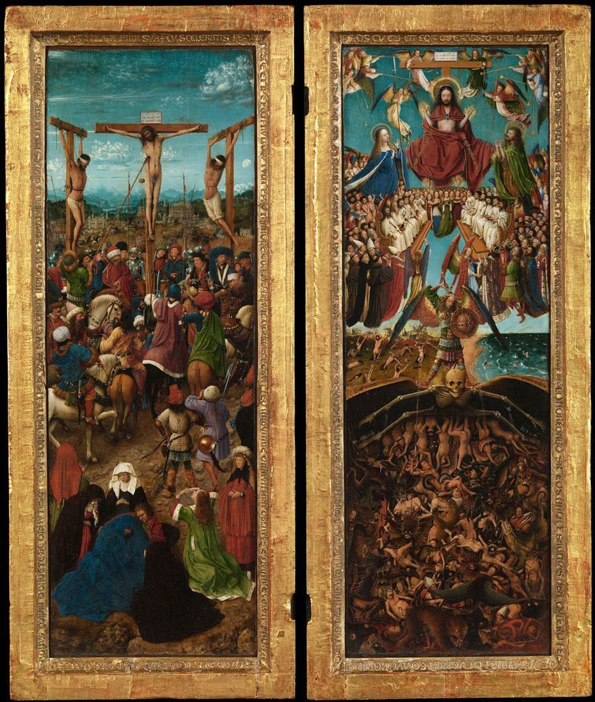 1440, La Crucifixión y El Juicio Final de Jan van Eyck
