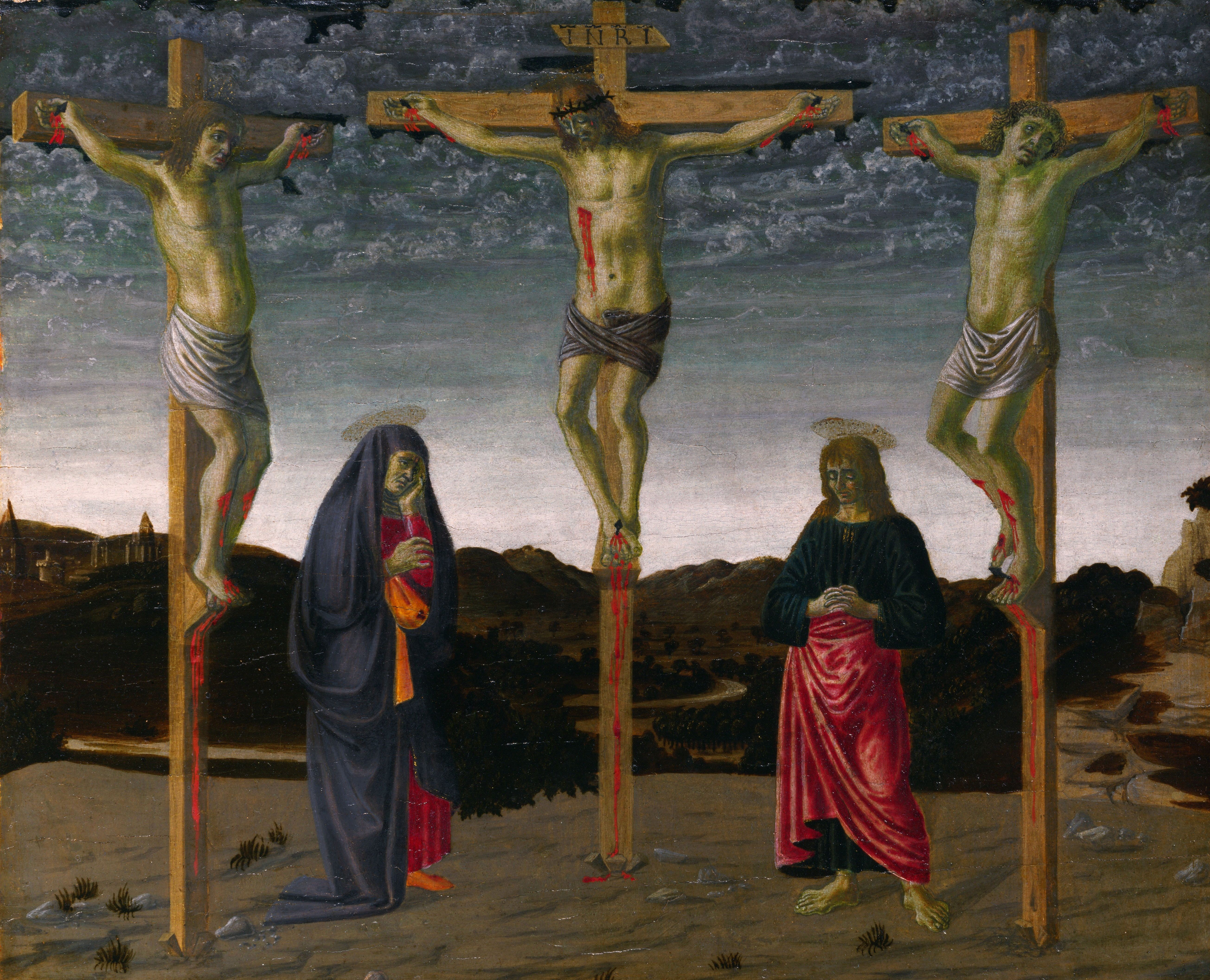 1471, La Crucifixión de Francesco Botticini en la National Gallery London