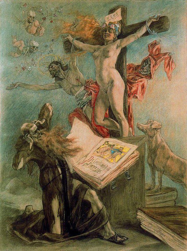 1878, La tentación de San Antonio de Félicien Rops