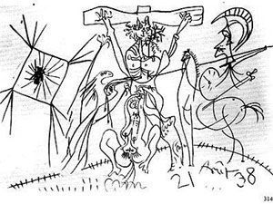 1938, Crucifixión de Pablo Picasso
