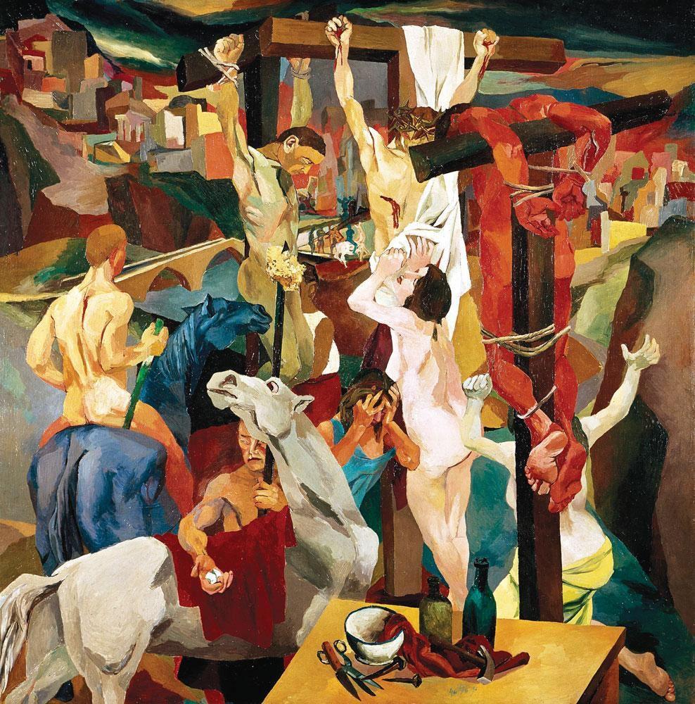 1941, Crucifixión de Renato Guttuso en la Galería de Arte Moderno y Contemporáneo de Roma
