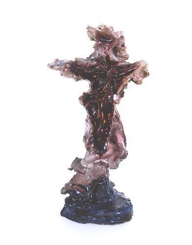 1947-48, Crucifixión de Lucio Fontana (cerámica) de la seria Vía Crucis