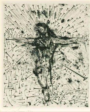 1961, Crucifixión de Salvador Dalí (aguafuerte)