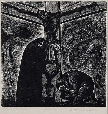 1962, Crucifixión negra de Fritz Eichenberg
