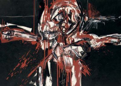 1963, Crucifixión negra y roja de Antonio Saura