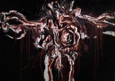 1963, Gran Crucifixión negra y roja de Antonio Saura en el Museum Boijmans Van Beuningen de Rotterdam