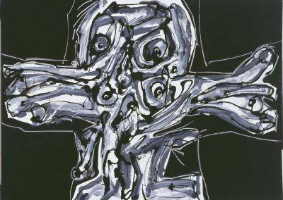 1986, Crucifixión de Antonio Saura