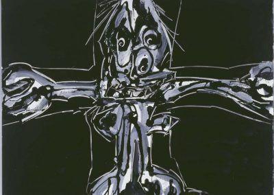 1986, Crucifixión de Antonio Saura en el Museo Nacional Centro de Arte Reina Sofía