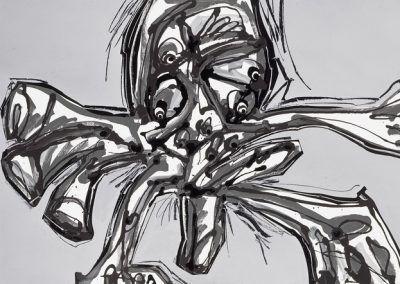 1990, Crucifixión de Antonio Saura