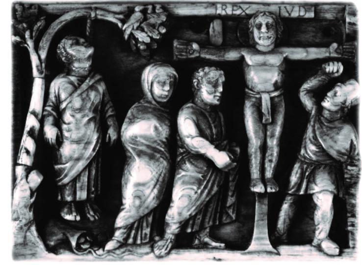 420-30, Placa de un cofre de marfil de autor anónimo en la Basílica de Santa Sabina de Roma