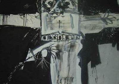 Crucifixión X de Antonio Saura