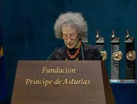 Discurso de Margaret Atwood al recibir el Premio Príncipe de Asturias de las Letras de 2008
