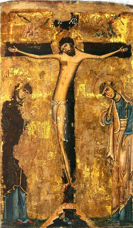 11??, Icono de Crucifixión, Svaneti (Georgia)