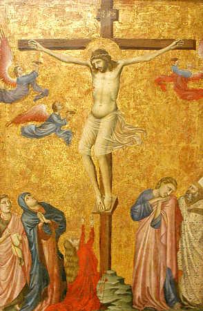 1310-20, La Crucifixión de Pacino da Bonaguida en el Metropolitan Museum of Art de New York