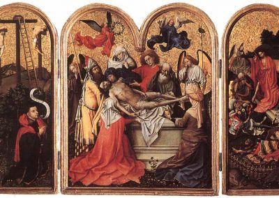 1425, El tríptico de Seilern de Robert Campin de Tournai en The Courtauld Gallery, Londres