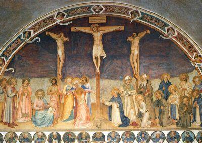 1441-42, Crucifixión con los Santos de Fra Angelico