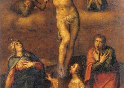 1540, Crucifixión de Michelangelo Buonarroti en la Catedral de Santa María de la Redonda (Logroño)