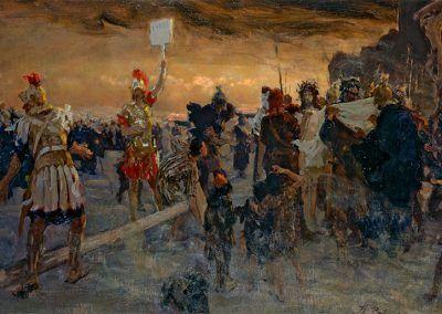 1896, Gólgota de Ilya Yefimovich Repin en el Museo Nacional de Kiev